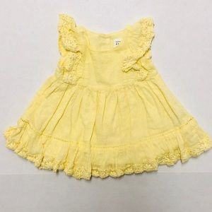5/$25 Baby gap girl yellow frilly dress 3-6 M
